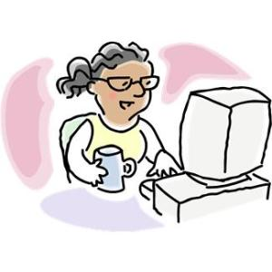 woman-computer-and-coffee