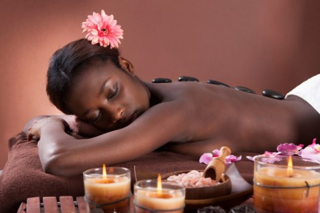 black-woman-getting-massage